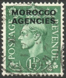 MOROCCO AGENCIES-1951 1½d Pale Green Sg 96 FINE USED V47083