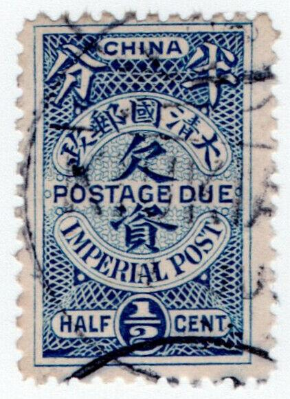 (I.B) China Postal : Imperial Post ½c (Postage Due)