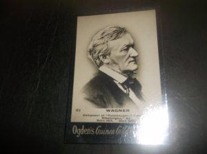 1901 Composer Richard Wagner Card