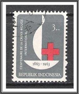 Indonesia #602 Red Cross Used