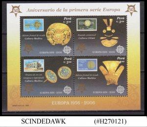 PERU - 2006 ANNIVERSARY OF EUROPA - MIN/SHT MNH