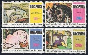 Uganda 318-321,322,MNH.Michel 306-309,Bl.29. Picasso-100,1981.Minotaur.