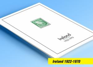 COLOR PRINTED IRELAND [CLASS.] 1922-1970 STAMP ALBUM PAGES (13 illustr. pages)
