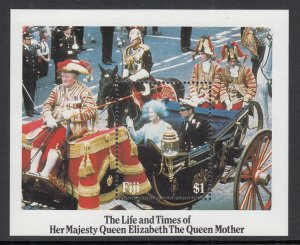 Fiji 535 Queen Mother Souvenir Sheet MNH VF