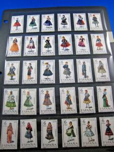 SPAIN - COSTUMES SET - 1967 TO 1971  -  MNH