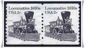 SC#1897A 2¢ Locomotive Coil Pair (1982) Used