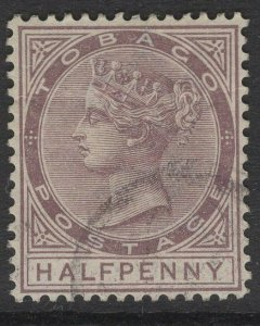 TOBAGO SG14 1882 ½d PURPLE-BROWN USED