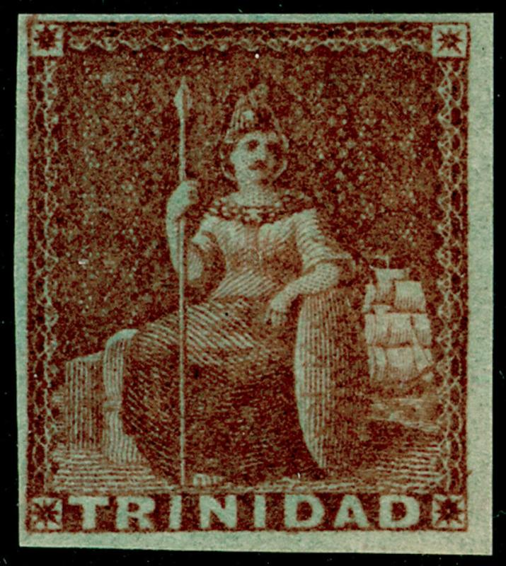 TRINIDAD AND TOBAGO SG7, 1d brownish red, NH MINT. Cat £300.