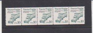 Scott # 2457 Tractor Trailer Transportation Coil MNH PNC5 Strip of 5 Plate # 1