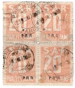 (I.B) South Africa Railways : Parcel Stamp 80/- (Pretoria)