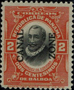 CANAL ZONE #39 1912 2c OVERPRINT ISSUE--MINT-OG/LITE HINGED