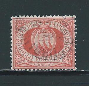 San Marino 11 20c Numeral single Used (z4)