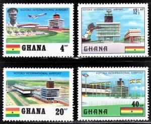 Ghana Scott 382-85 complete set F to VF mint OG H.