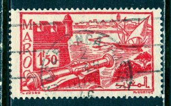 French Morocco 1945: Sc. # 206; O/Used Single Stamp