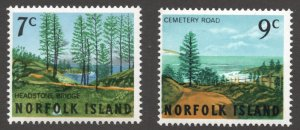 Norfolk Island (1966) - Scott # 88 - 89, MNH