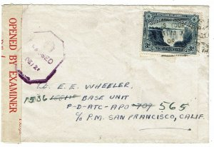 Southern Rhodesia 1943 Salisbury cancel on cover to APO 709, re-directed, censor