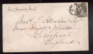 Canada #26iv Used On Cover To Liverpool **With Certificate**