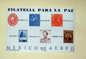 Mexico - C434, MNH Complete, S/S. EXFILMEX '74. SCV - $3.50