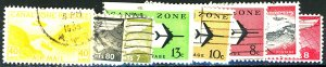 CANAL ZONE #USED AIR POST STAMPS