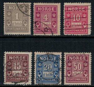 Norway #J1-6  CV $11.80