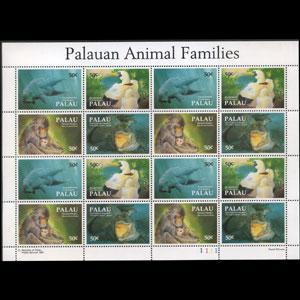 PALAU 1993 - Scott# 313 Sheet-Fauna NH