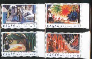 GREECE Scott 1267-1270 MNH** 1978 set