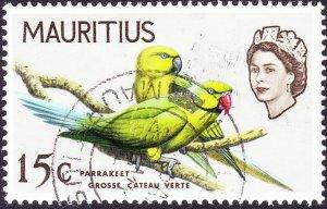 MAURITIUS 1965 QEII15cPale Grey SG322FU