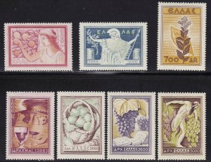 1953 Greece/ Greece,N° 585/591 Products Agricultural 7 Values MNH / Rubber