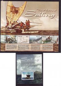 Palau-Scott#835-36-two unused NH sheets-Ships-History