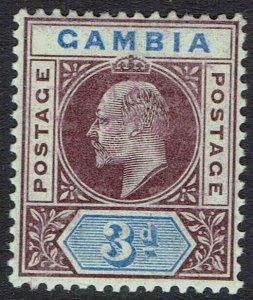 GAMBIA 1902 KEVII 3D WMK CROWN CA