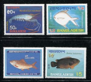 Bangladesh 225-228, MNH Marine Life, Fish 1983. x29356