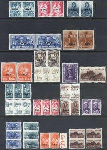 South West Africa 1941 1/2d-1s3d WAR 2 SETS SG 114-130b Sc 135-152 Cat £75($95)