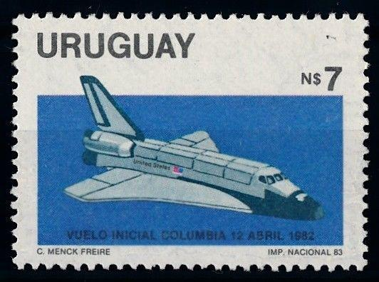 [66082] Uruguay 1983 Space Travel Weltraum Columbia  MNH
