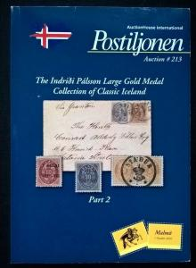 Auction catalogue Indridi Palsson Calssic ICELAND Stamps Covers Postal History