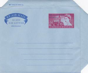 GB 1957 46th Parliamentary Conference Air Letter 6d Unused VGC