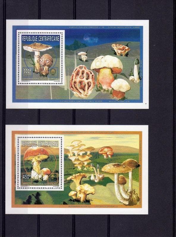 CENTRAL AFRICA 1996 Mushrooms-Fungi-Scouts 2 SS perf.mnh