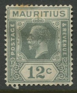 STAMP STATION PERTH Mauritius #189 KGV Definitive Issue MH Wmk 4 Type II 1922