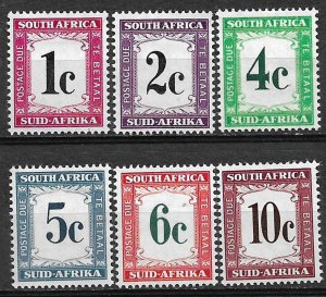 COLLECTION LOT OF # 807 SOUTH AFRICA  # J46-51 MH 1961 CV +$20