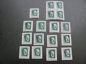 GERMANY 1937 MNH SC# B102 HITLER FROM SS LOT (115)