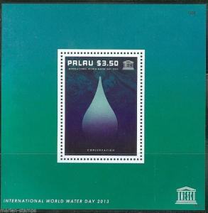 PALAU  2014 UNESCO INT'L WATER DAY SOUVENIR SHEET  MINT NH
