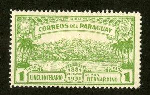 PARAGUAY 320 MH BIN $.50