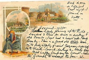 Egypt Card *Assiout* CHROMO PPC Cairo Citadel Postcard 1901{samwells-covers}C146