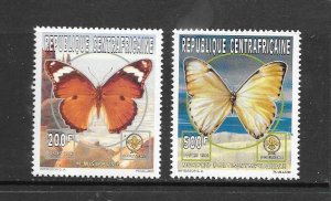 BUTTERFLIES - CENTRAL AFRICAN REPUBLIC #1131b-f   MNH