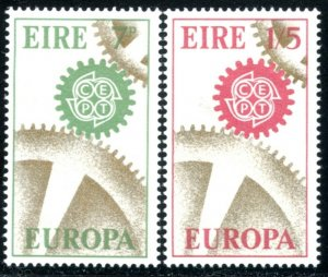 IRELAND Sc#232-233 SG#229-230 1967 Europa Issue Complete Set OG Mint Hinged
