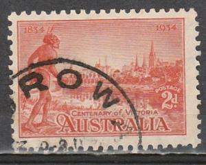 #142 Australia Used perf 10-1/2