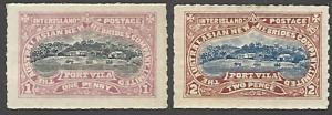 Australasian New Hebrides Co MH 2 Interisland Postage Stamps