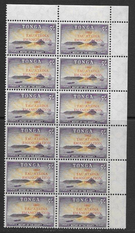 Tonga 119-26 MNH cpl sets x 12, f-vf, see desc. 2018 CV$ 104.40