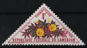 Cameroon 1963 Postage Due Stamps / flowers 1F (1/16) USED