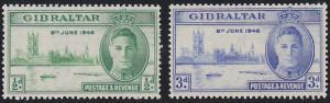 Gibraltar 119-120 MNH (1946)