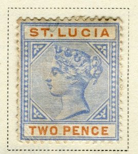 ST.LUCIA; Early 1898 QV issue fine used 2d. value